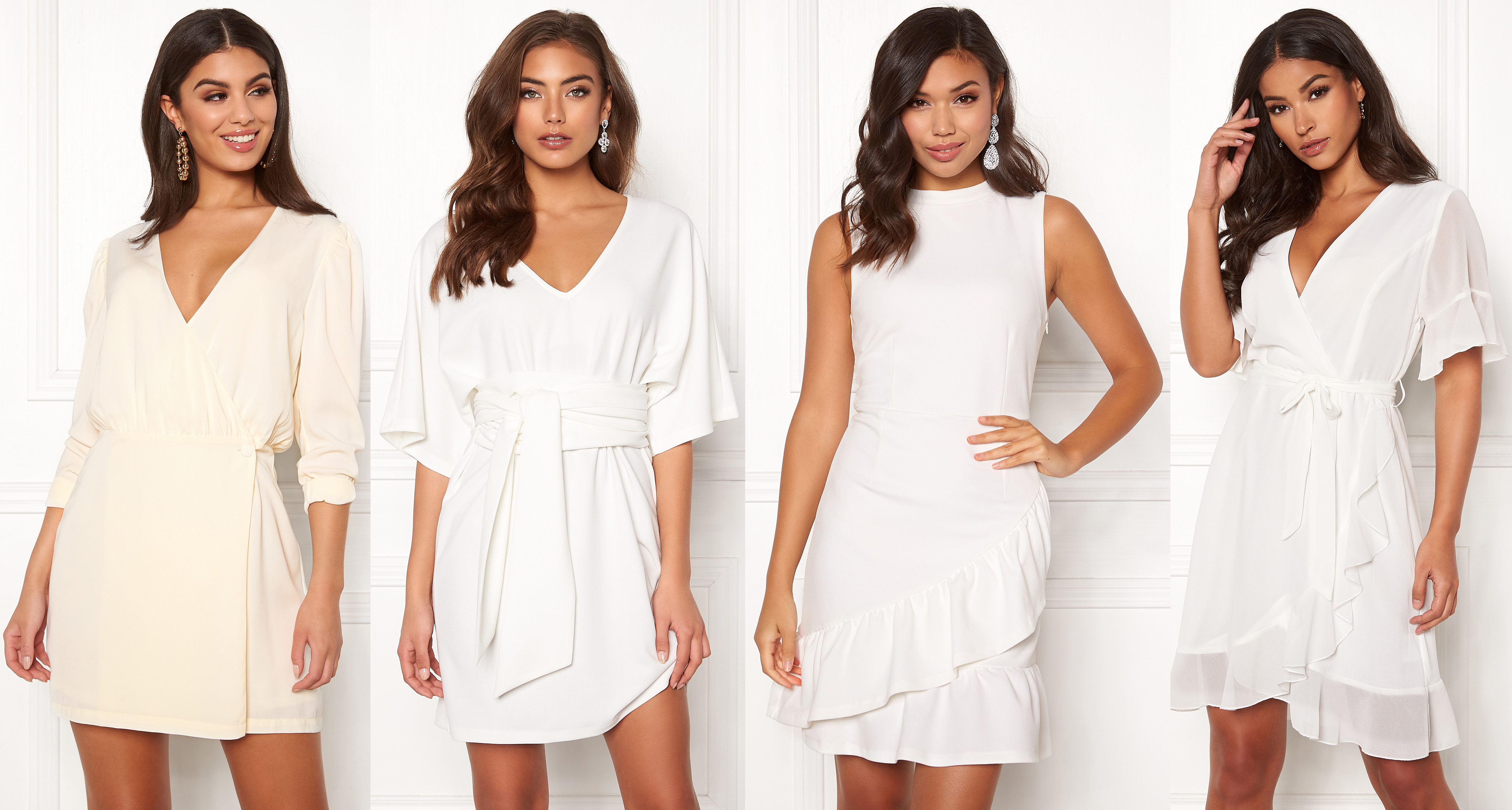 9b966aa19786 Vita vardagsklänningar korta vita klänningar