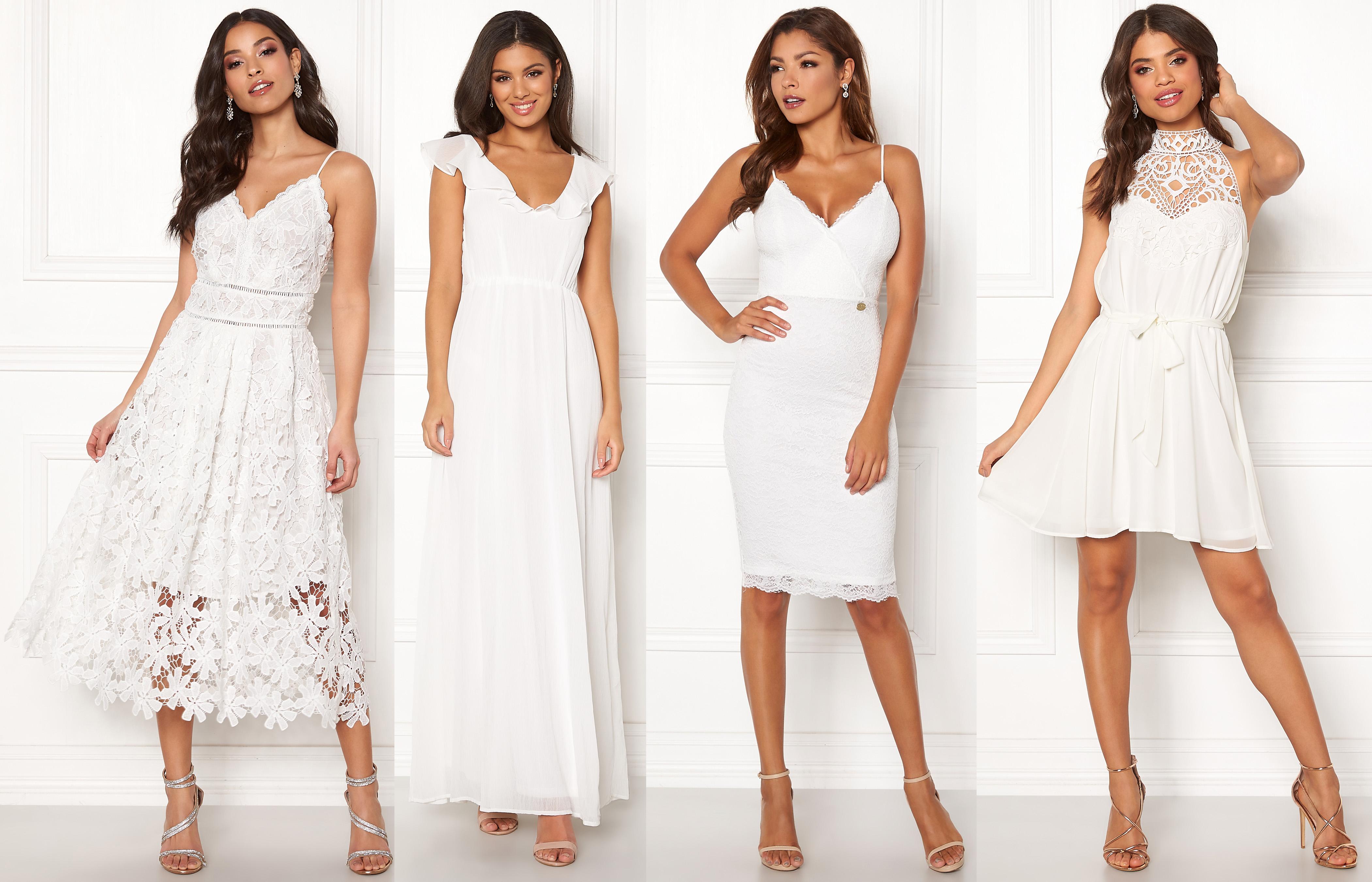 fina vita klänningar långklänning vit spetsklänning vit