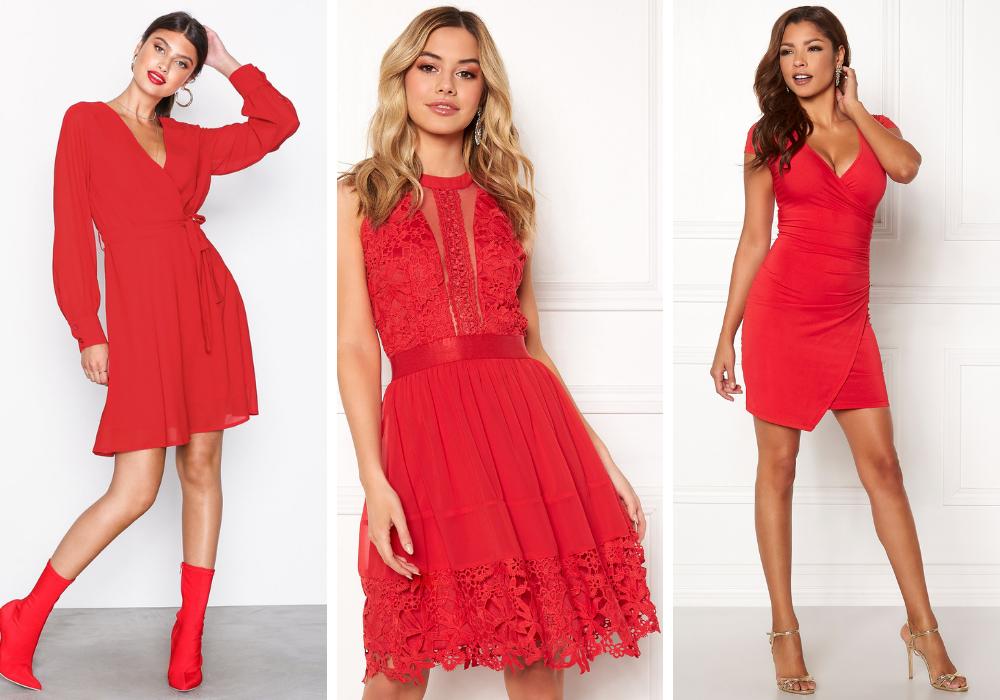 Kort röd klänning