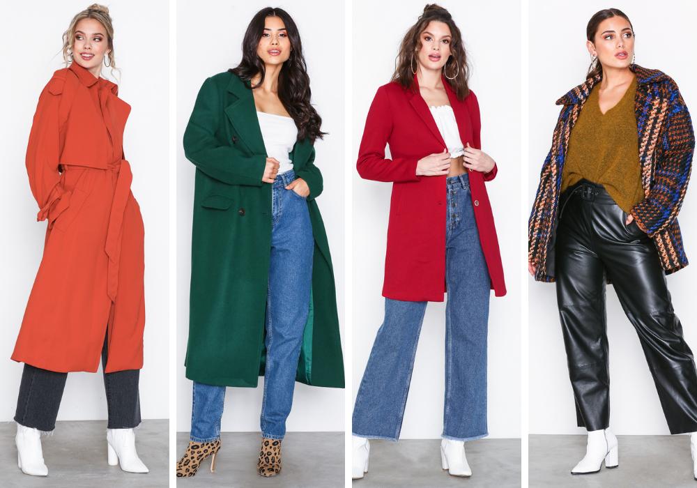 hösttkappa färg, färgglad höstjacka. Röd kappa, grön kappa.