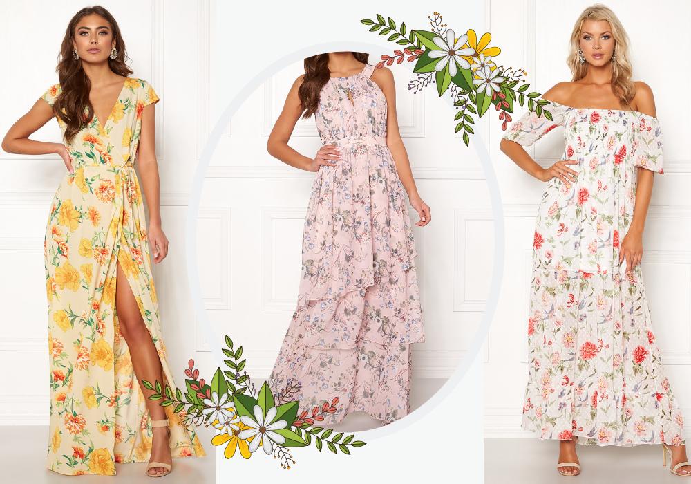 b9bebfcecc77 blommig långklänning maxiklänning blommönster · KlänningarSommarkläder