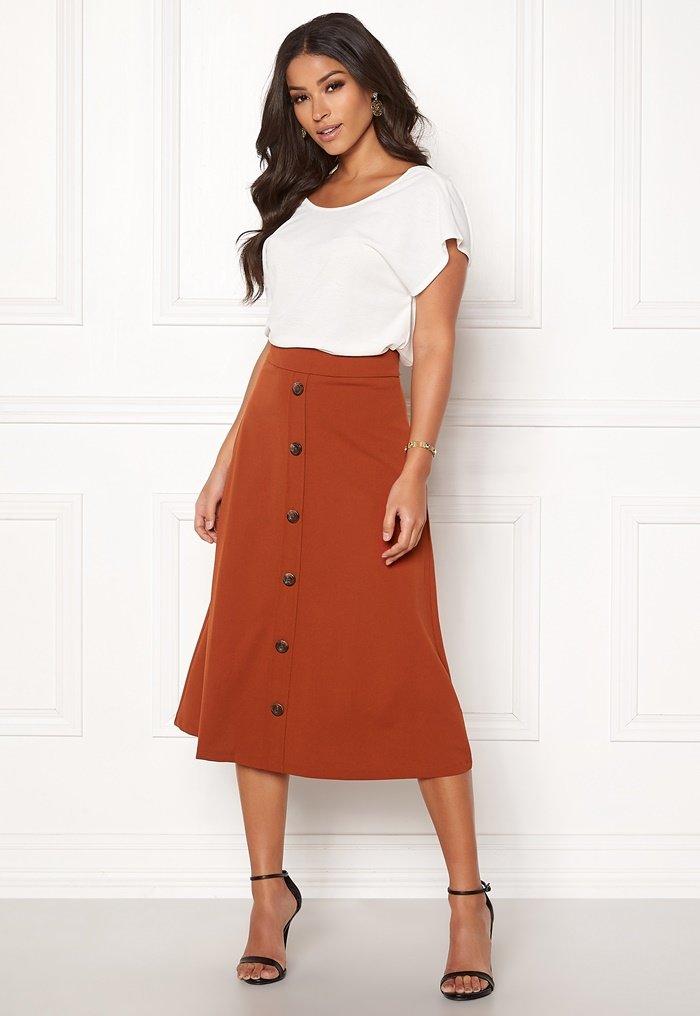 Höst kjol med knappar