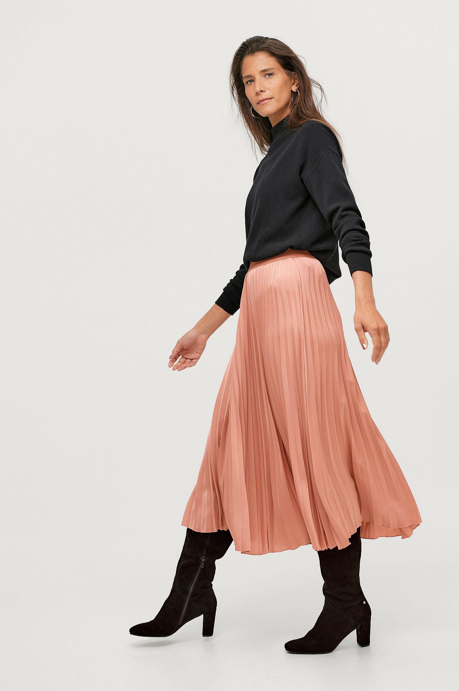 gammel rosa lång kjol höst