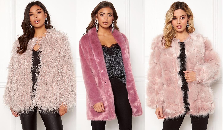 rosa fuskpäls jacka rosa teddyjacka faux fur