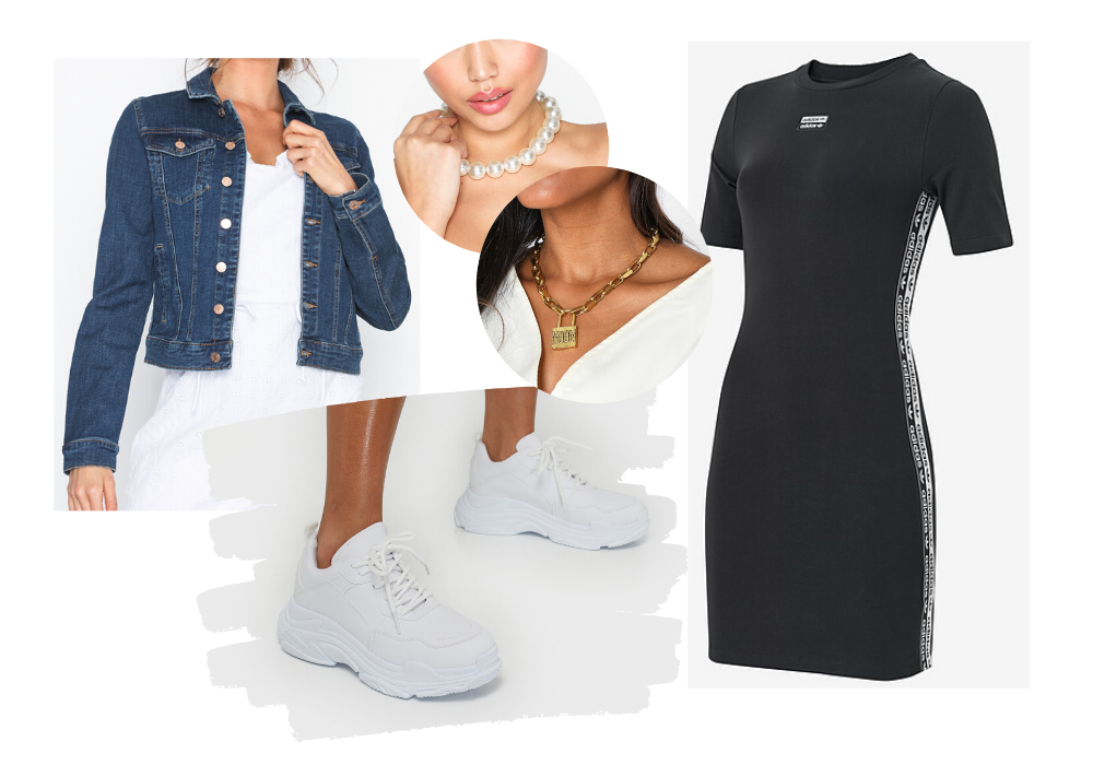 adidas klänning outfit styling