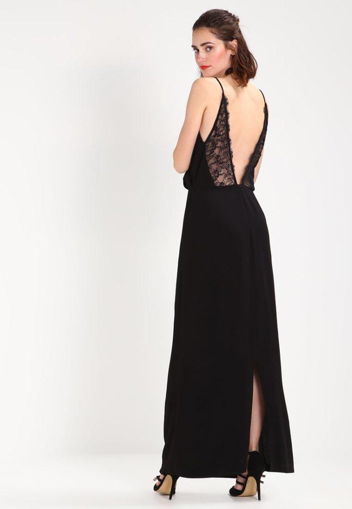 Maxiklänning svart långklänning spets