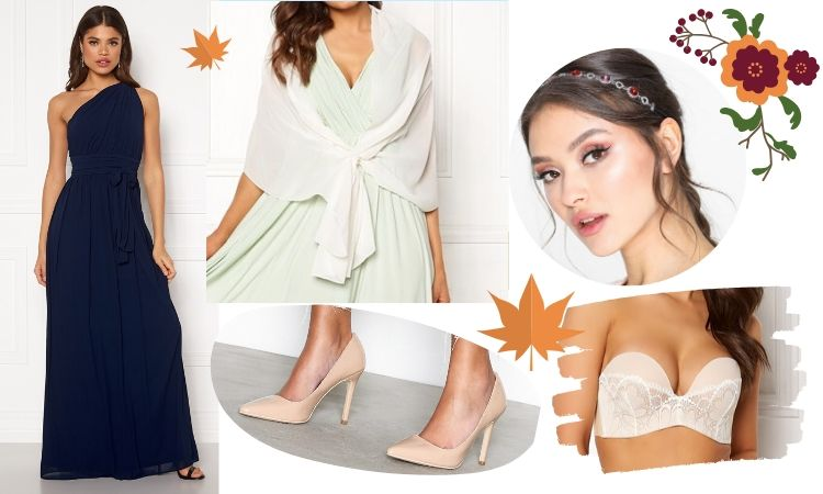 Höstbröllop 2020 inspiration brudtärna klänning varm