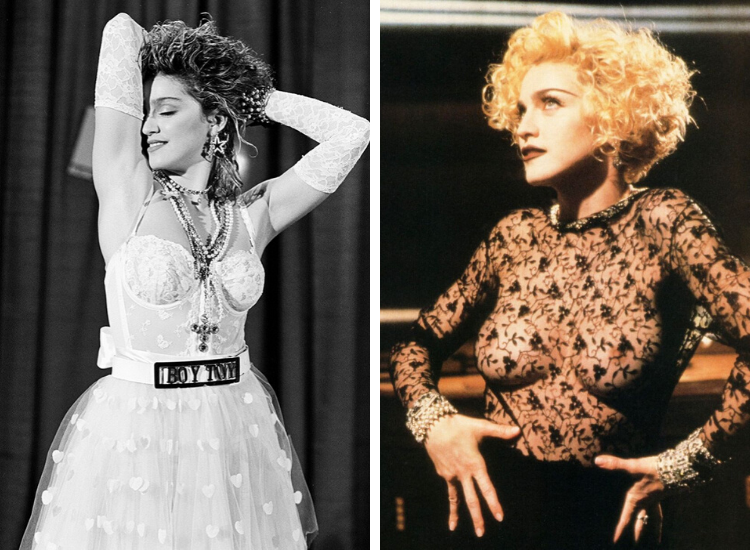 Madonna spetsbody 80-tal look