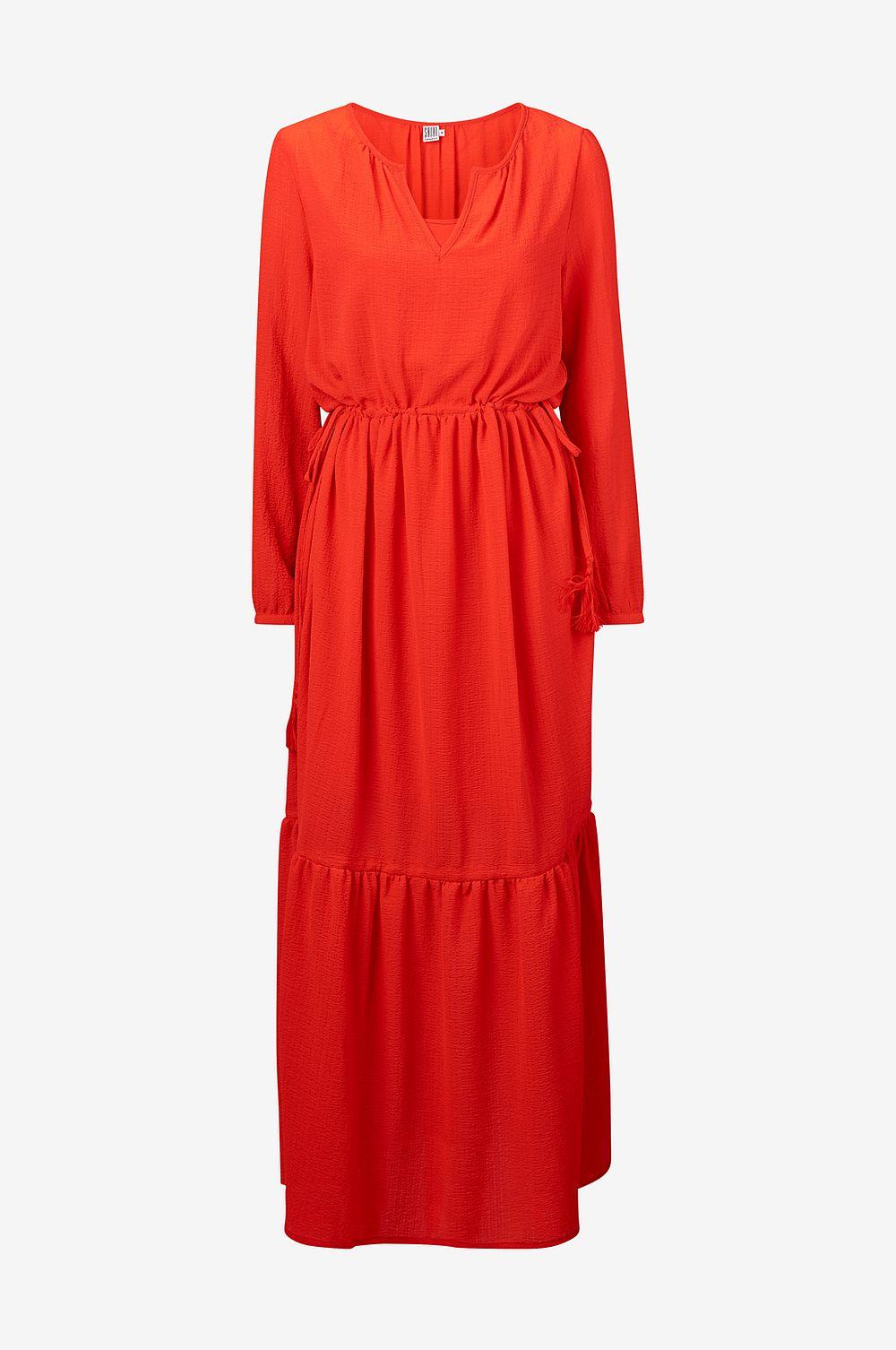 långklänning röd maxiklänning