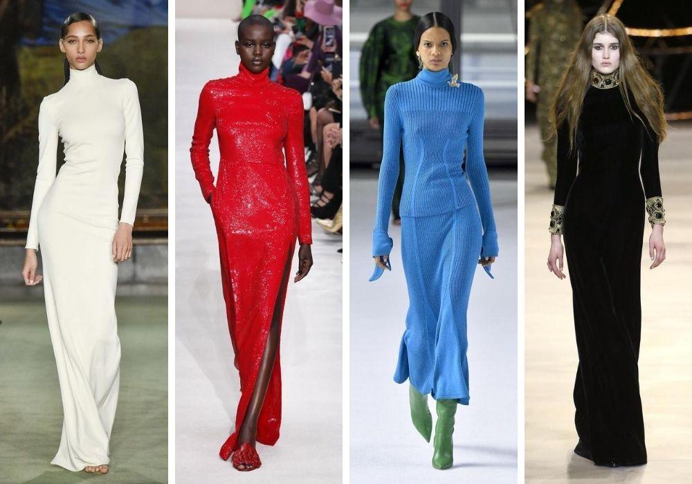 Långa höstklänningar 2020 hösttrender