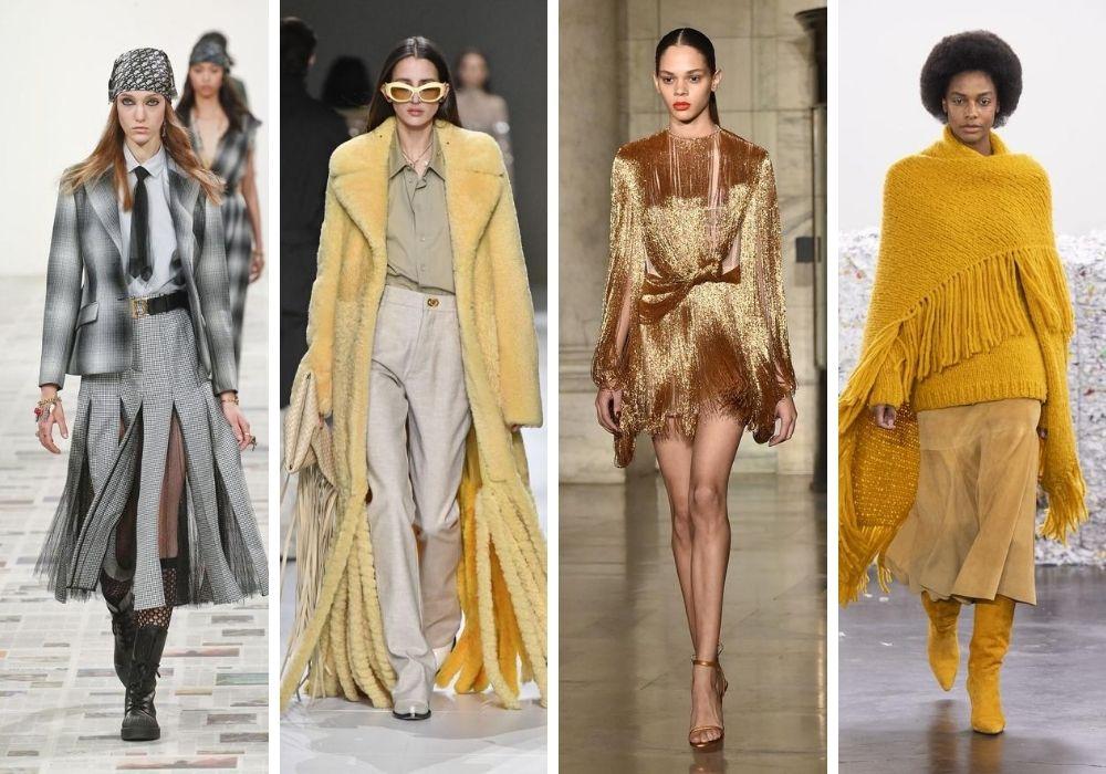 Fransar på kläder mode trender hösten 2020