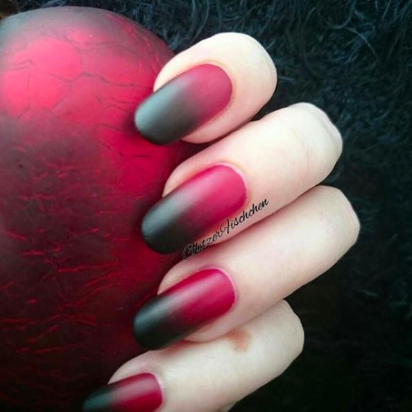Ombre naglar höst inspiration