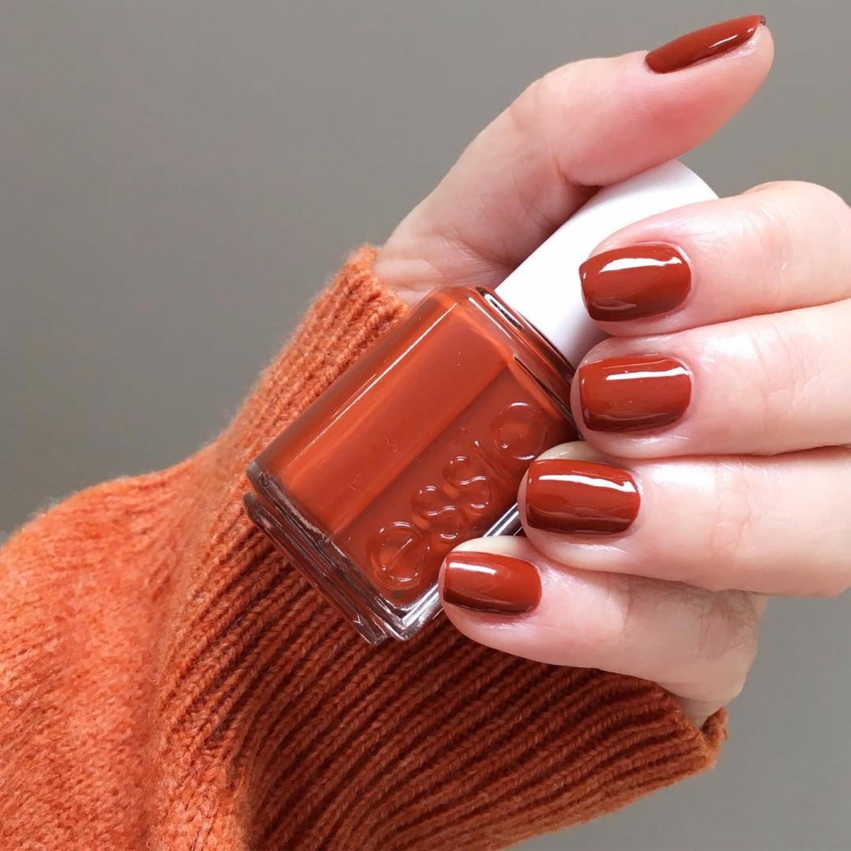 höst nagellack orange brun