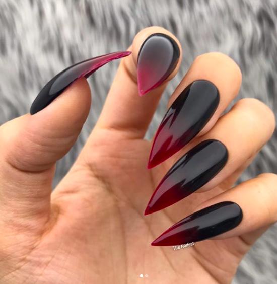Vampyr naglar ombre