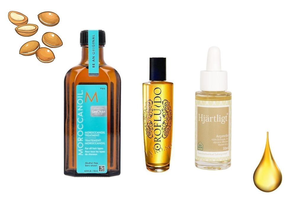 Arganolja hår maroccan oil vs orofluido