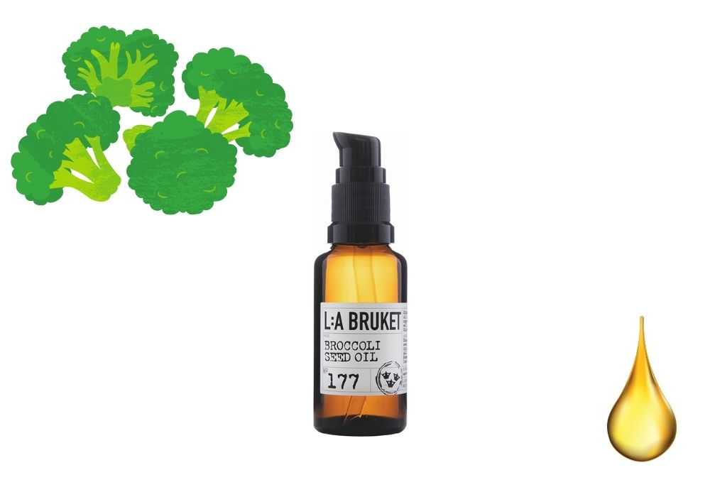 Broccolifröolja broccoliolja hårolja la bruket
