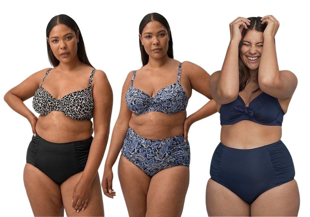 Bikini stora storlekar bh plus size