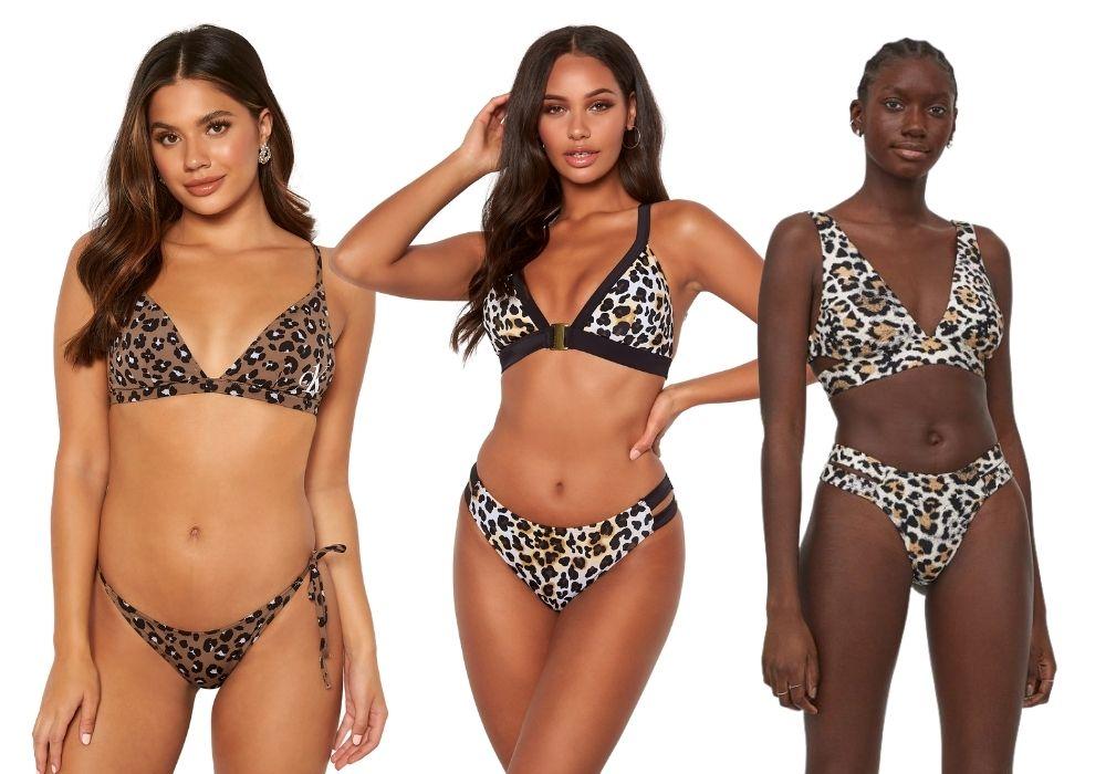 Leopard bikini leo mönster